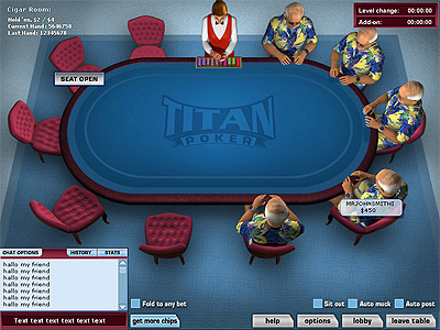 table Titan Poker
